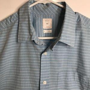 Men's Gap Short Sleeve Shirt Size Large